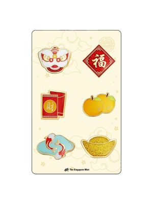 CNY Auspicious Icons Magnetic Pins Set