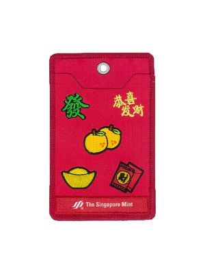 CNY Card Holder with Auspicious Icons Embroidered