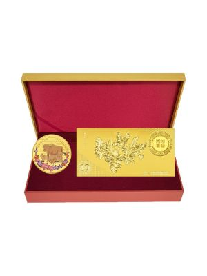 Blissful Ox with Gold-foil Note Set