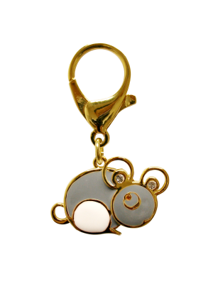 Gold Plated Rat Lunar Charm