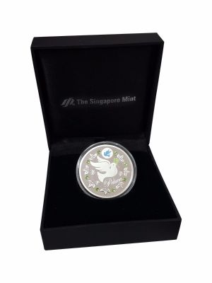 Peace Silver-Plated Medallion (With Personalization)
