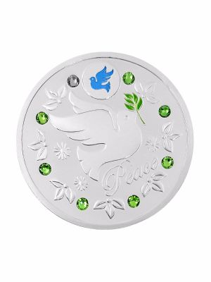 Peace Silver-Plated Medallion