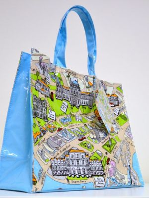 Museum Attraction Map Shoulder Bag