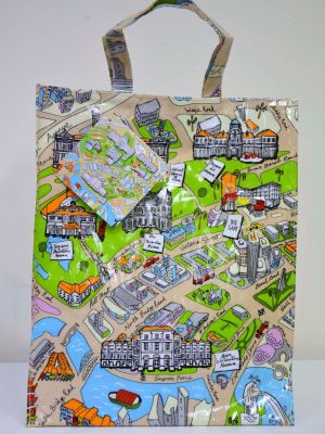 Museum Attraction Map Medium Bag