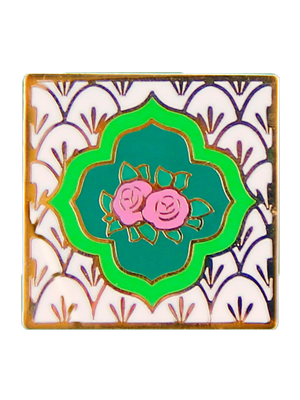 Beige Peranakan Tile Badge (Single)
