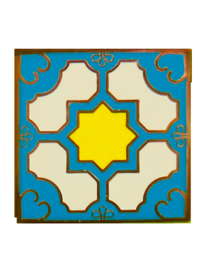 Blue Peranakan Tile Badge (Single)