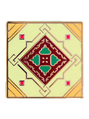 Green Peranakan Tile Badge (Single)