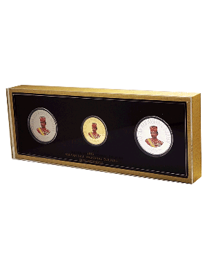 2016 Brunei His Majesty's 70th Royal Birthday 3-Coin Set