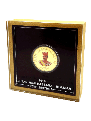 2016 Brunei His Majesty's 70th Royal Birthday 1oz Gold Proof Coin