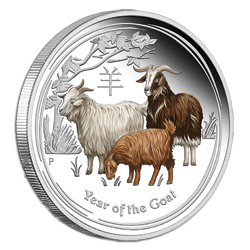 1oz Silver Brilliant Unc Coin 2015 Australian Lunar Series II YEAR OF THE GOAT