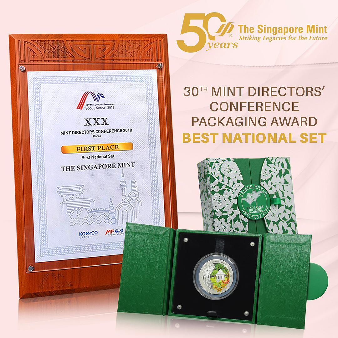 Best National Set (1st Place) for the Singapore Botanic Gardens UNESCO World Heritage Coin