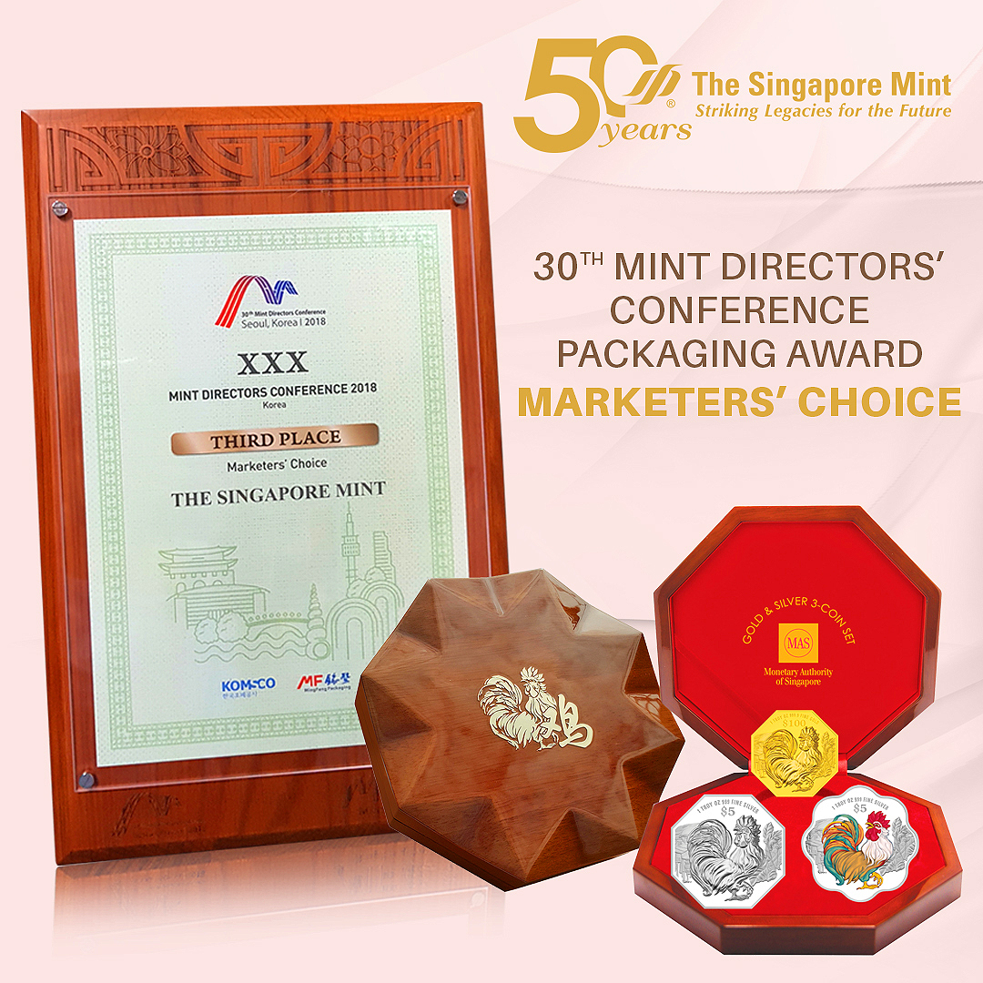Marketers' Choice (3rd Place) for the Singapore Lunar Rooster 3-Coin Set