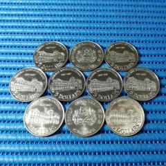 10X 1987 Singapore Centenary of the National Museum $5 Commemorative Coin ( Lot of 10 Pieces )