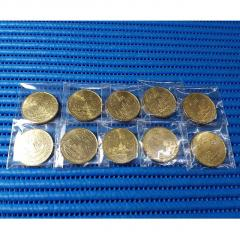 10X 1990 Singapore 25 Years of Independence SG25 $5 Commemorative Coin ( Lot of 10 Pieces )
