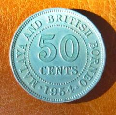 1954 Queen Elizabeth II 50 Cent Coin (50¢)