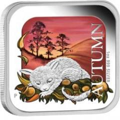 AUSTRALIAN SEASONS - AUTUMN 2013 1OZ SILVER PROOF SQUARE COIN