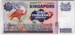 Singapore Bird Series $1000 Banknotes 889804
