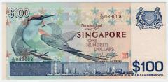 Singapore Bird Series $100 Banknotes 089008
