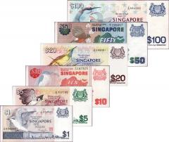 Singapore Bird Series $1 - $100 Set