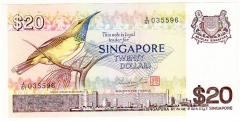 Singapore Bird Series $20 banknotes 035596