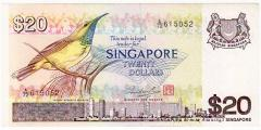 Singapore Bird Series $20 banknotes 615052