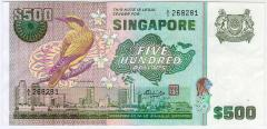 Singapore Bird Series $500 Banknotes 268281