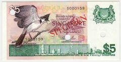 Singapore Bird Series Specimen $5