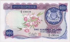 Singapore Orchid Series $100 Hon Sue Sen 156124