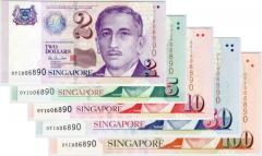 Singapore Portrait Series Banknotes $2 to $100 0YI