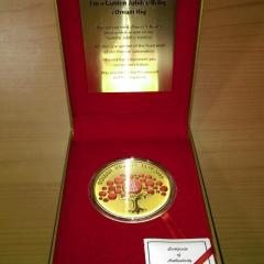 SG50 Golden jubilee Baby Medallion Singapore 2015.